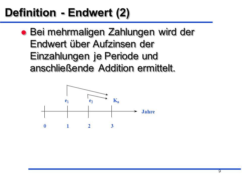 Definition - Endwert (2)