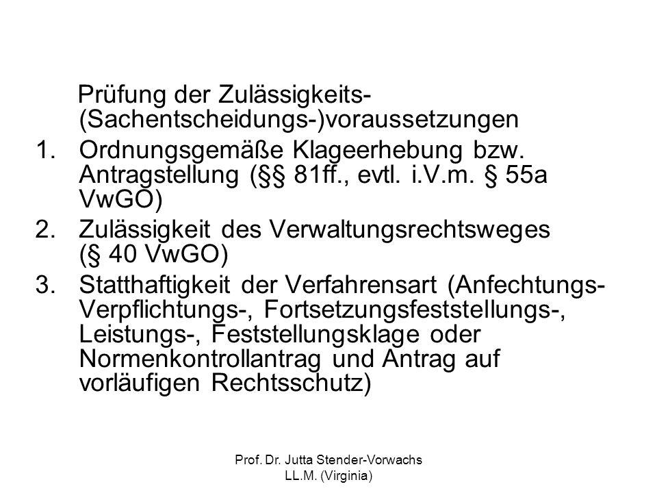 Prof. Dr. Jutta Stender-Vorwachs LL.M. (Virginia)