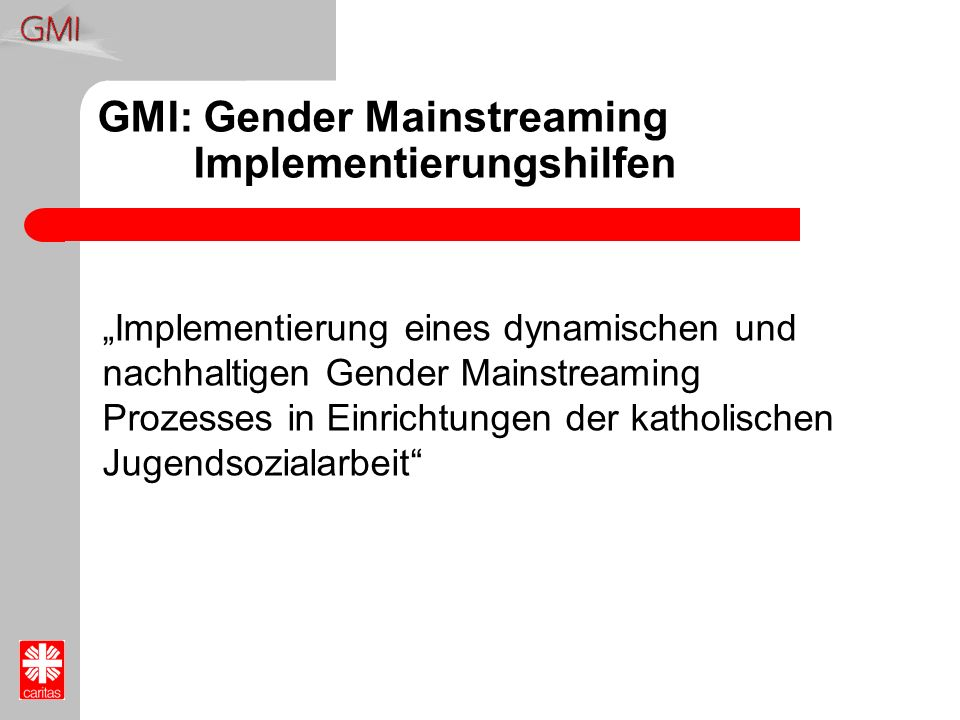 GMI: Gender Mainstreaming Implementierungshilfen