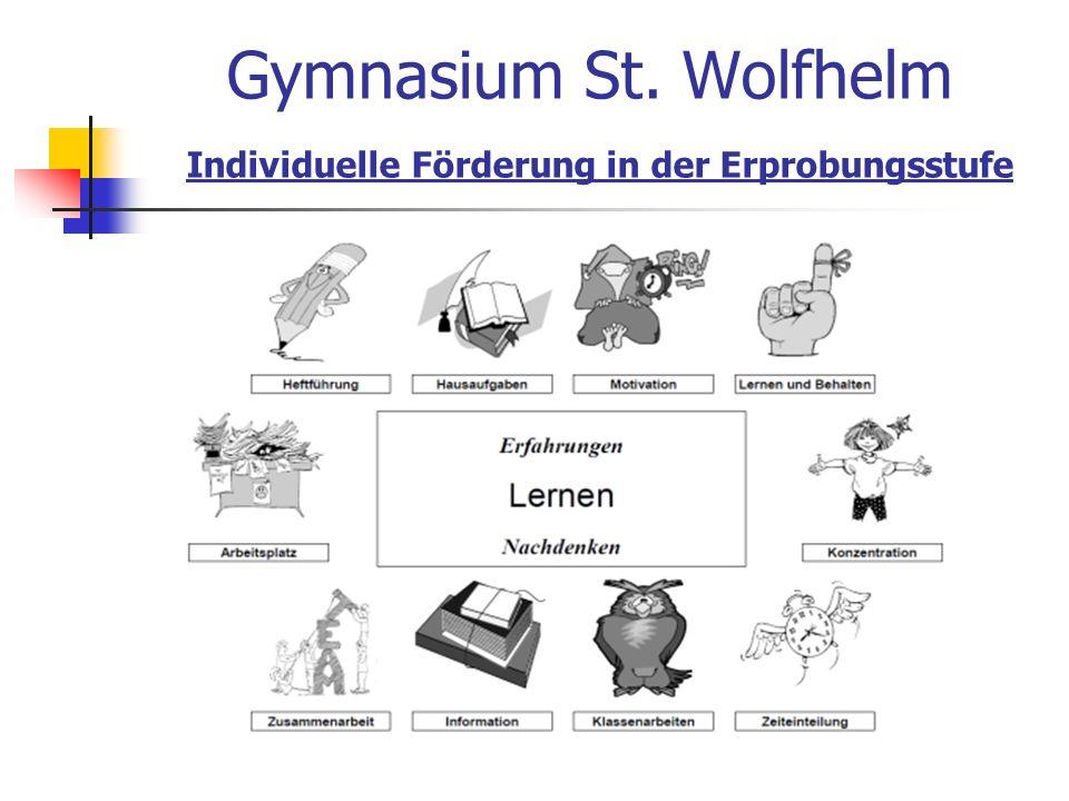 Gymnasium St. Wolfhelm Individuelle Förderung in der Erprobungsstufe
