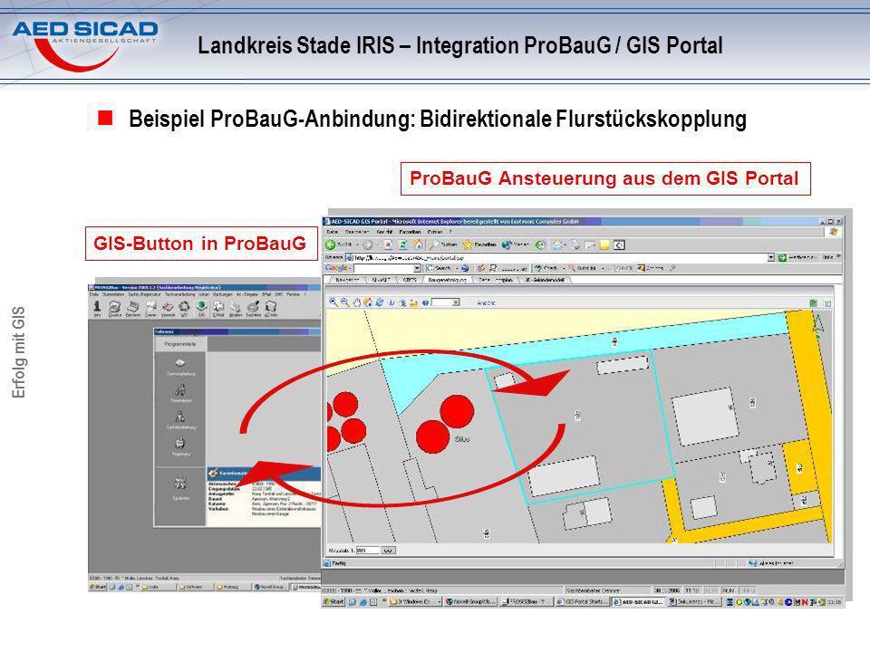Landkreis Stade IRIS – Integration ProBauG / GIS Portal