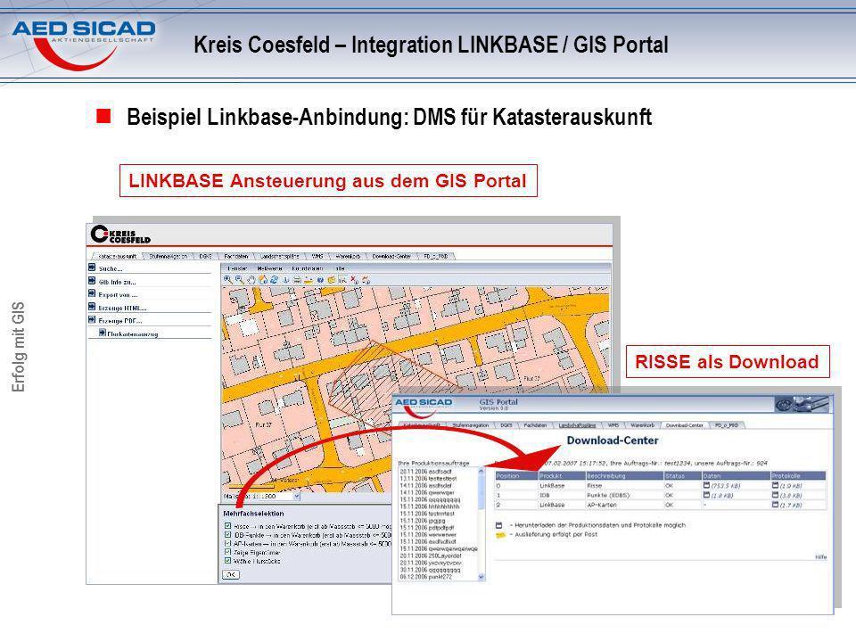 Kreis Coesfeld – Integration LINKBASE / GIS Portal