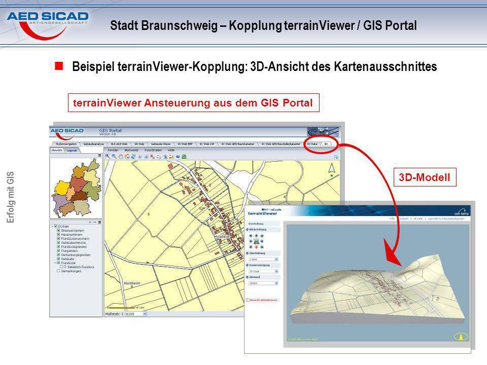 Stadt Braunschweig – Kopplung terrainViewer / GIS Portal