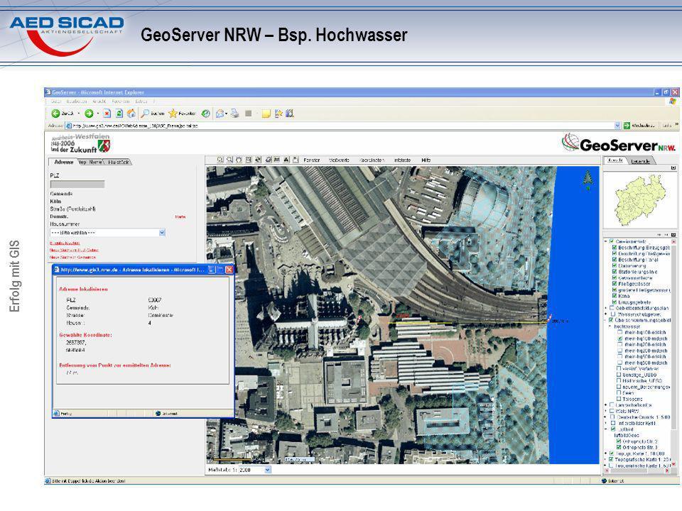 GeoServer NRW – Bsp. Hochwasser