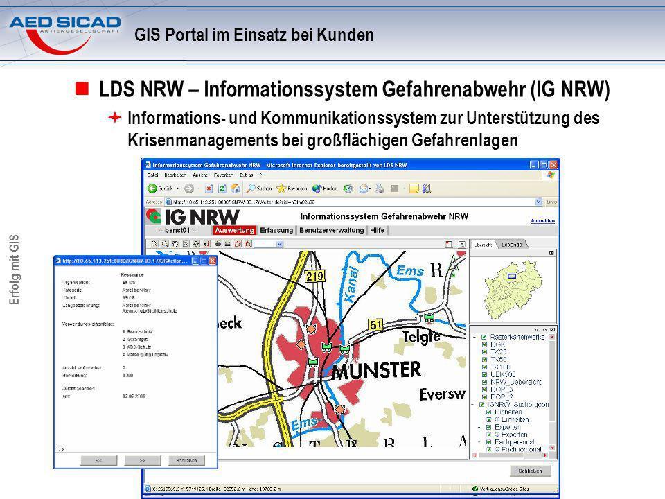 GIS Portal im Einsatz bei Kunden
