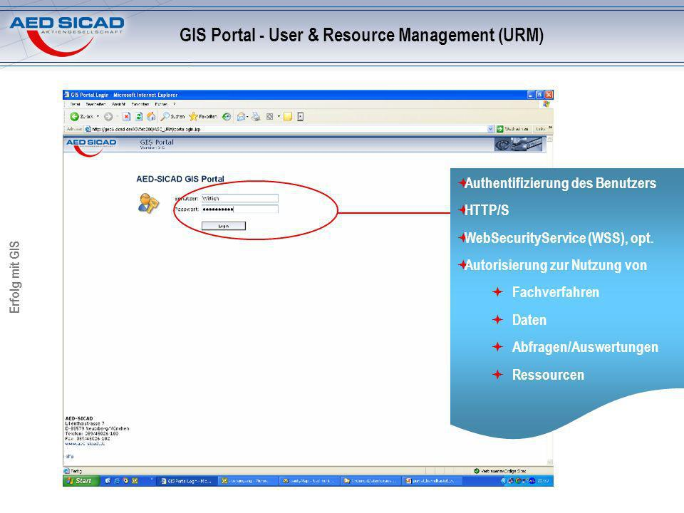 GIS Portal - User & Resource Management (URM)
