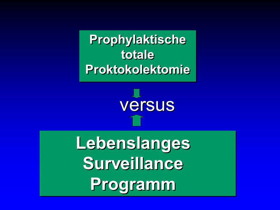 versus Lebenslanges Surveillance Programm Prophylaktische totale