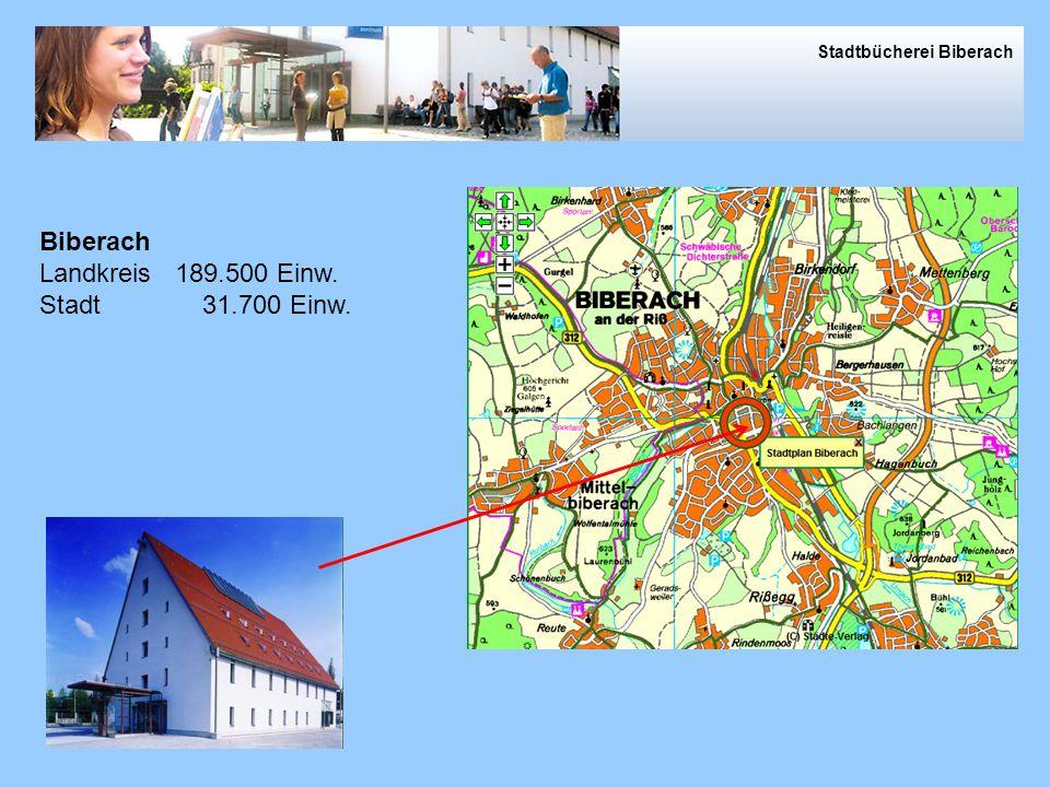 Biberach Landkreis 189.500 Einw. Stadt 31.700 Einw.