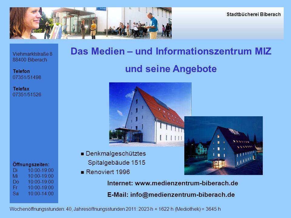 Das Medien – und Informationszentrum MIZ und seine Angebote