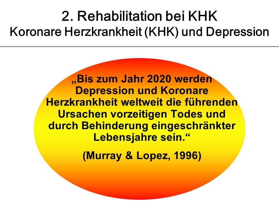 2. Rehabilitation bei KHK Koronare Herzkrankheit (KHK) und Depression