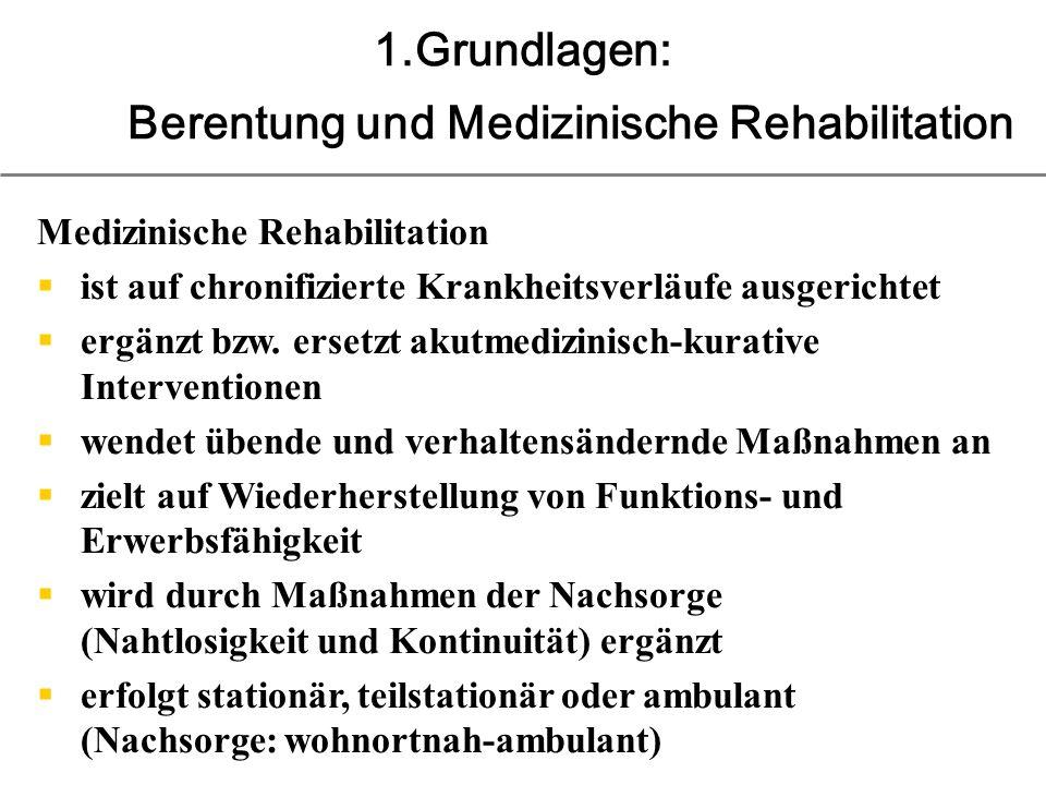 1.Grundlagen: Berentung und Medizinische Rehabilitation