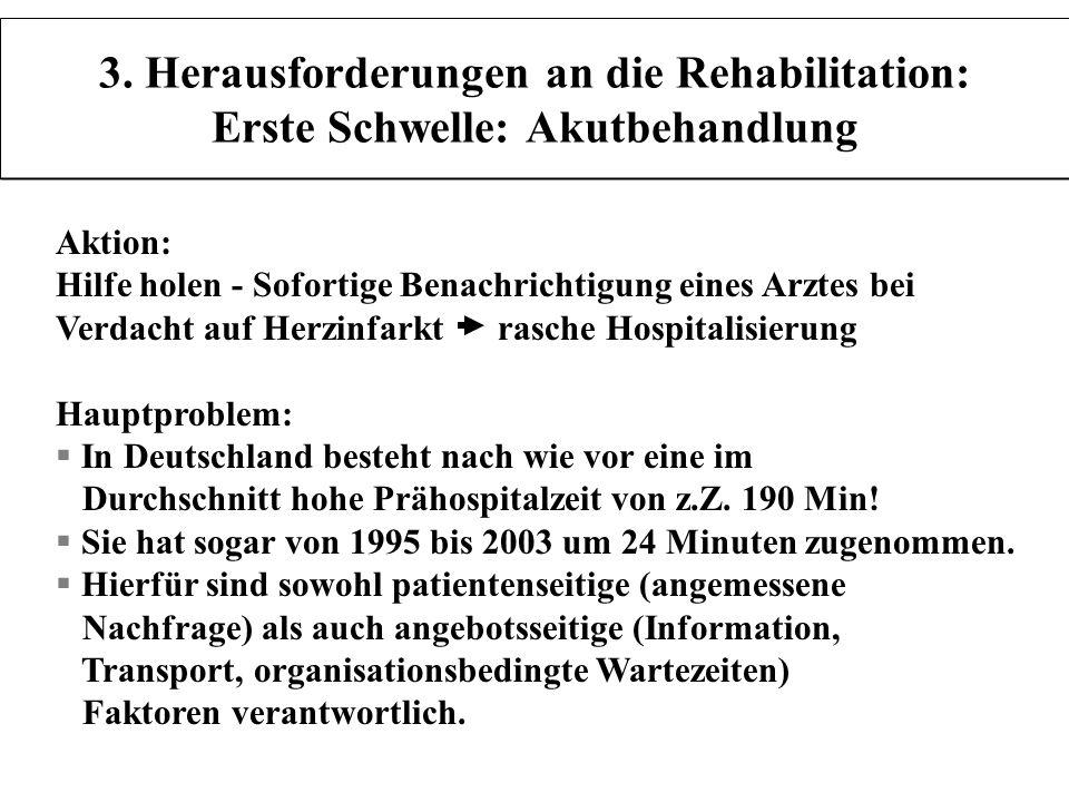 3. Herausforderungen an die Rehabilitation: Erste Schwelle: Akutbehandlung