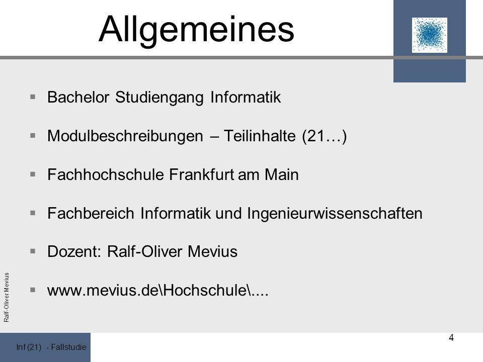 Allgemeines Bachelor Studiengang Informatik