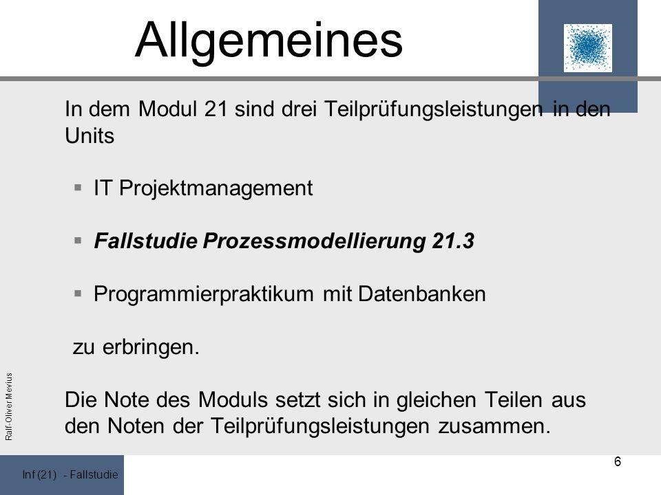 Allgemeines IT Projektmanagement Fallstudie Prozessmodellierung 21.3