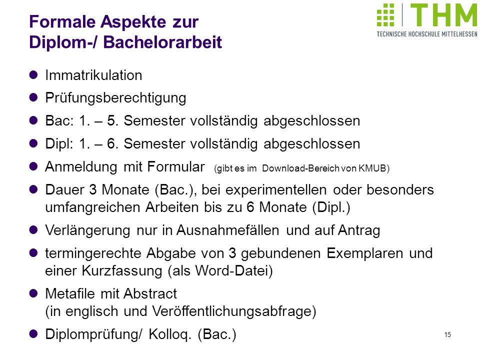 Diplom-/ Bachelorarbeit