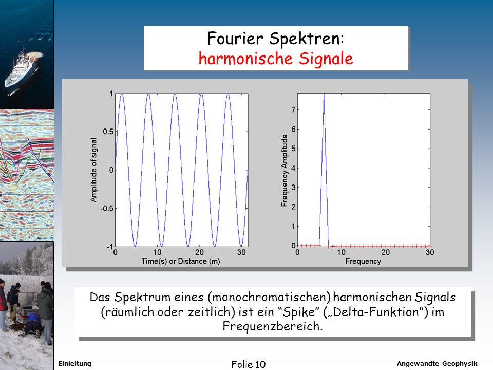 Fourier Spektren: harmonische Signale