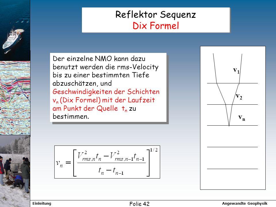 Reflektor Sequenz Dix Formel