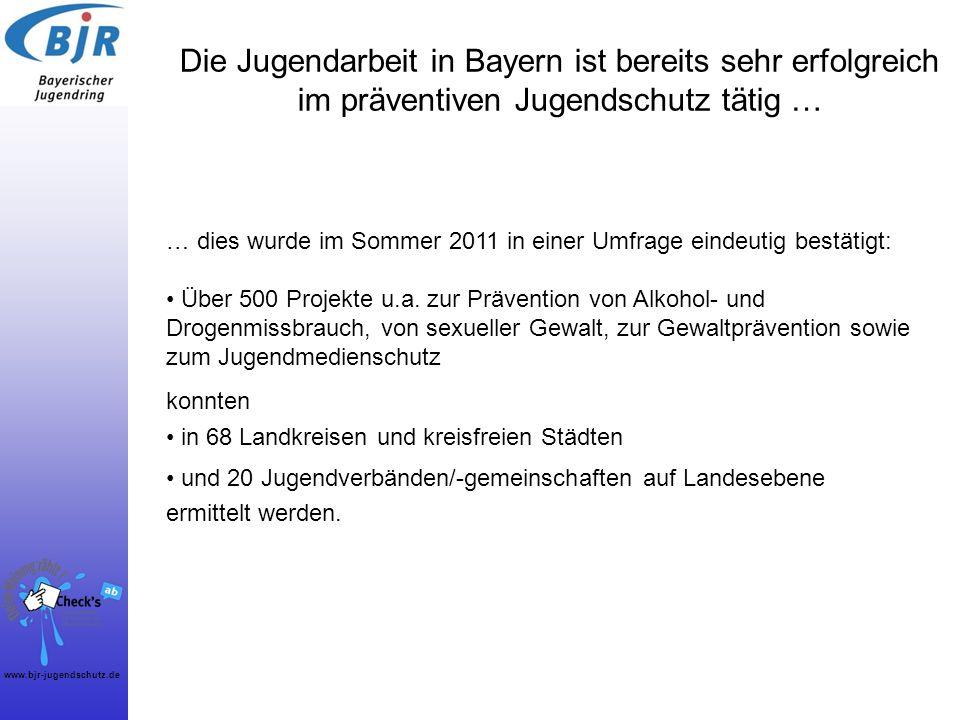 Die Jugendarbeit in Bayern ist bereits sehr erfolgreich im präventiven Jugendschutz tätig …