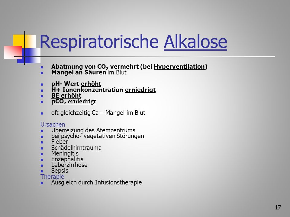 Respiratorische Alkalose