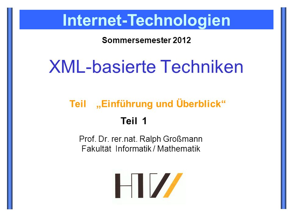 XML-basierte Techniken