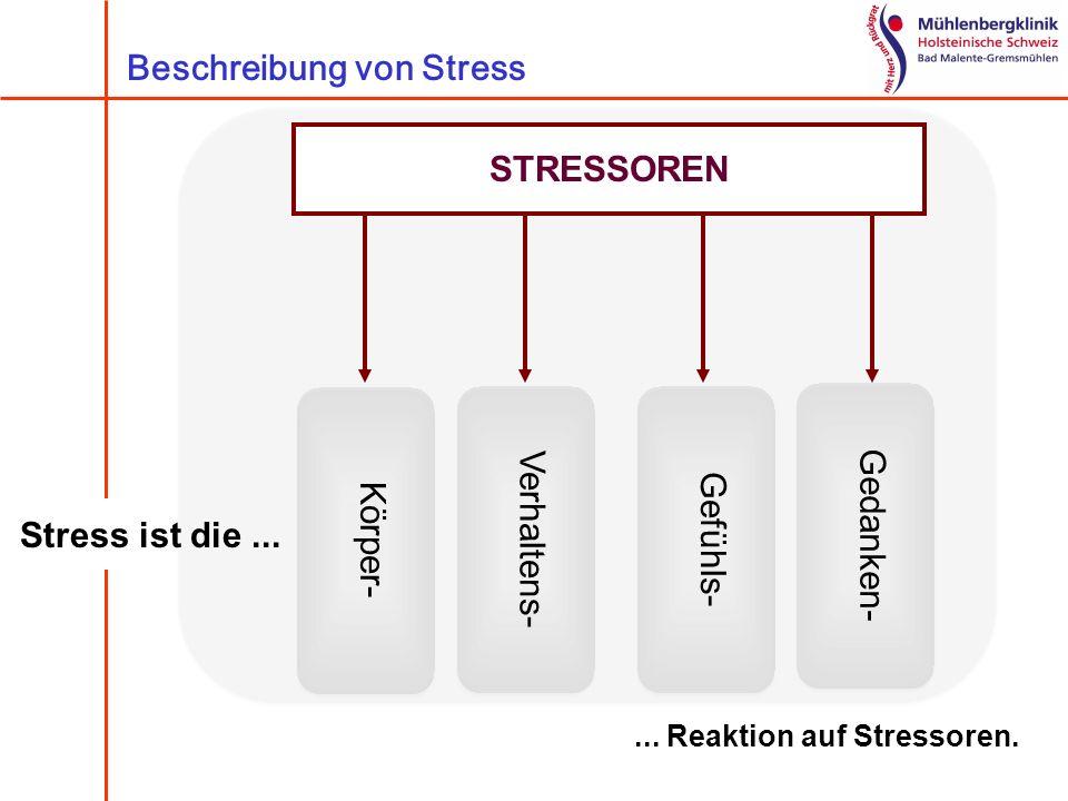 Beschreibung von Stress