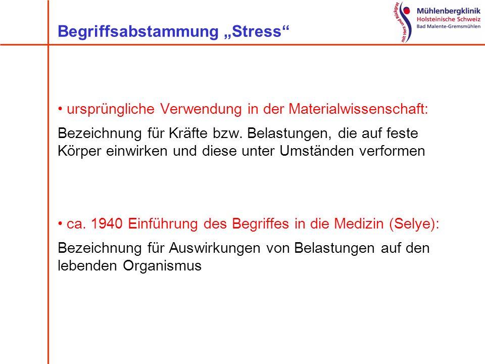 """Begriffsabstammung """"Stress"""