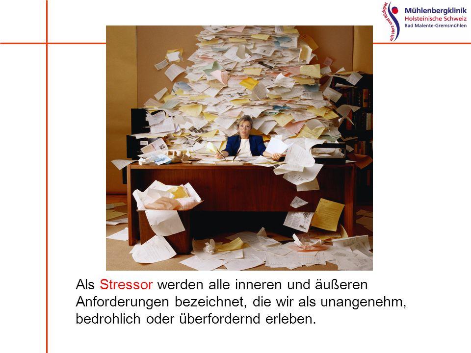 Als Stressor werden alle inneren und äußeren