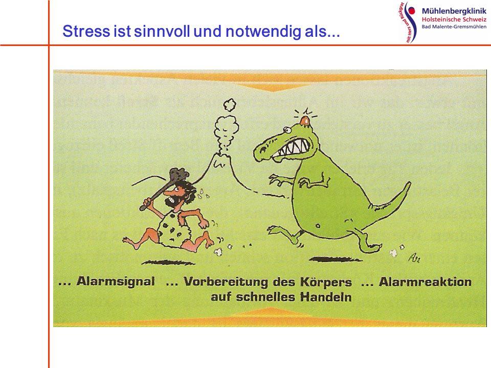 Stress ist sinnvoll und notwendig als...