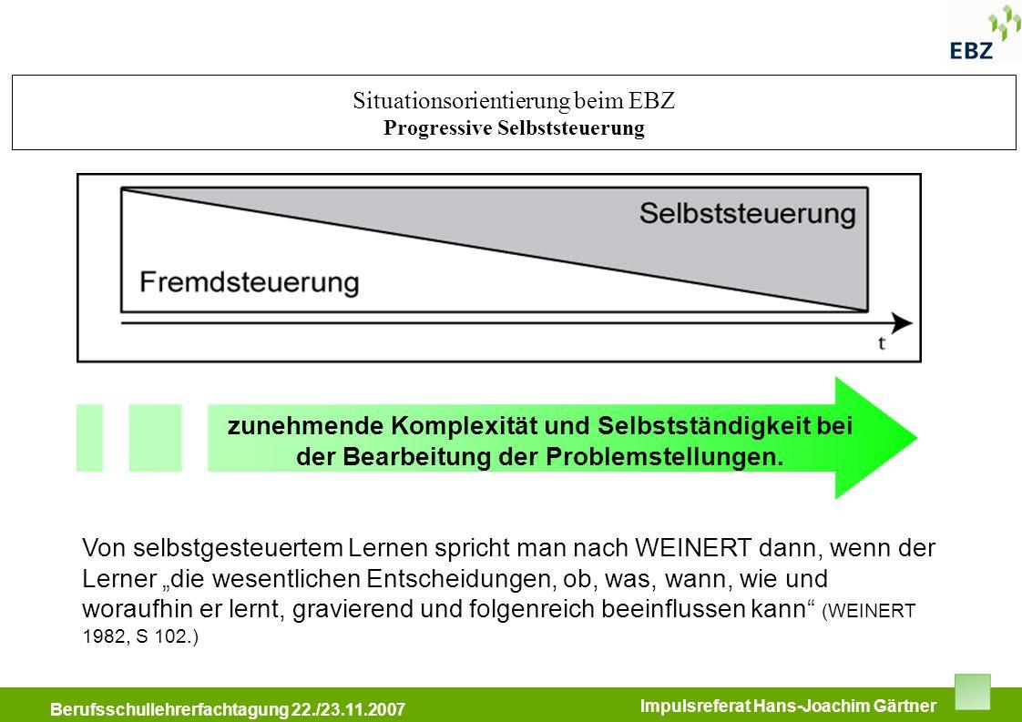 Situationsorientierung beim EBZ Progressive Selbststeuerung