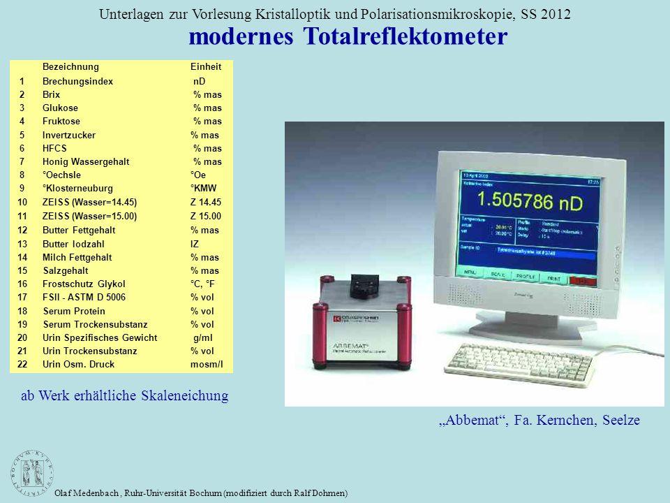 modernes Totalreflektometer