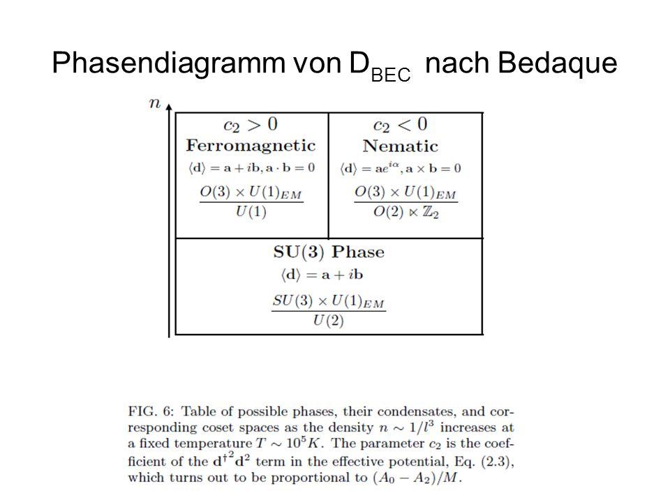 Phasendiagramm von DBEC nach Bedaque