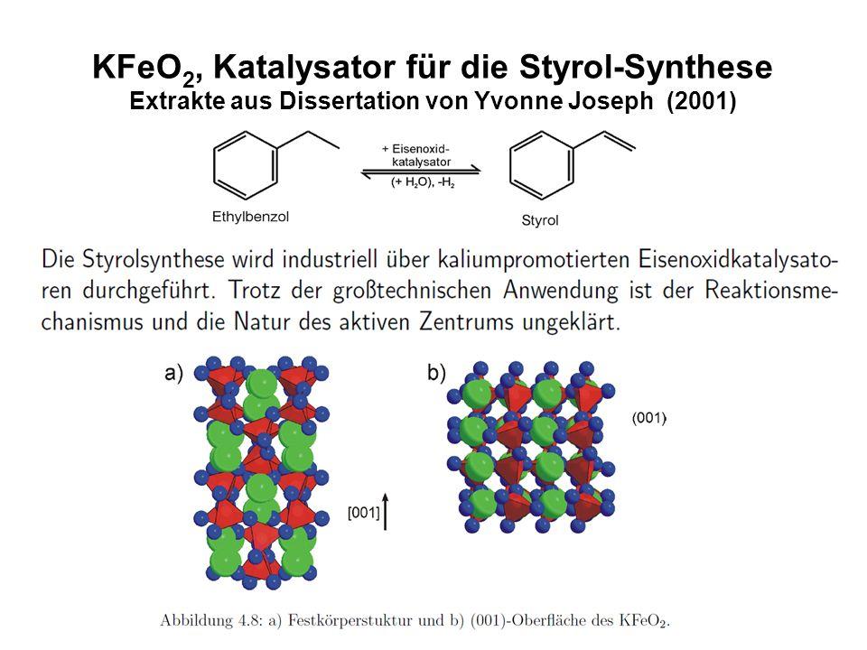 KFeO2, Katalysator für die Styrol-Synthese Extrakte aus Dissertation von Yvonne Joseph (2001)