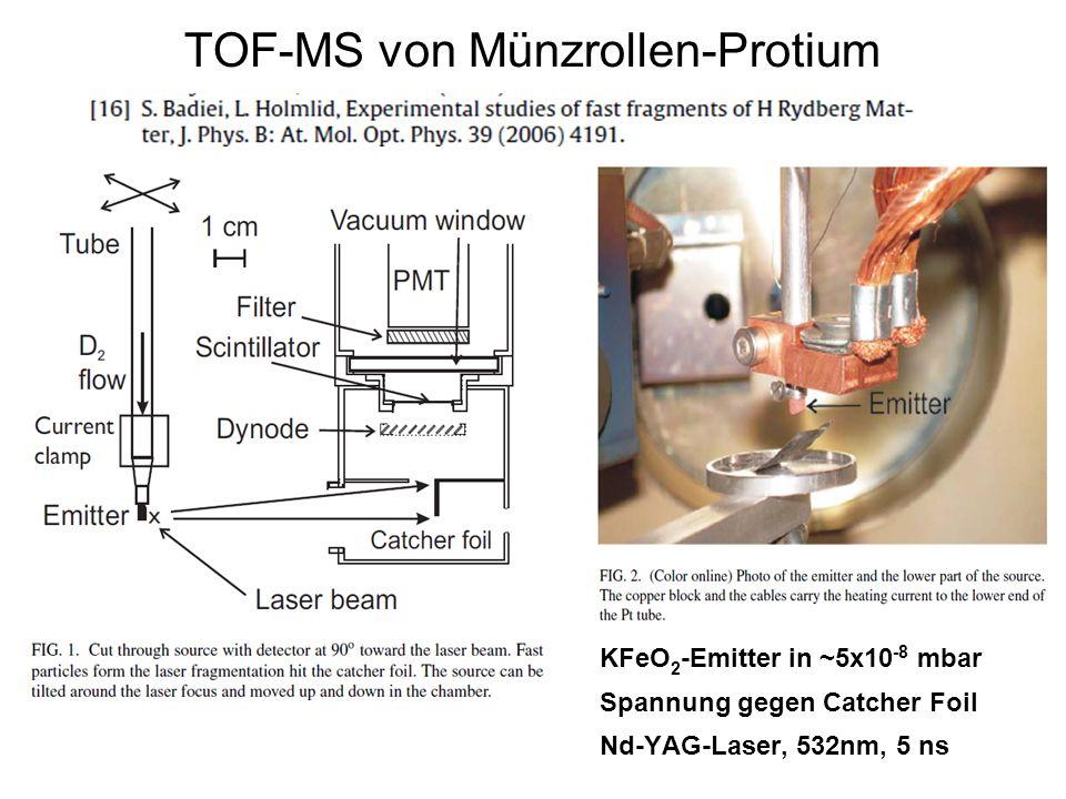 TOF-MS von Münzrollen-Protium