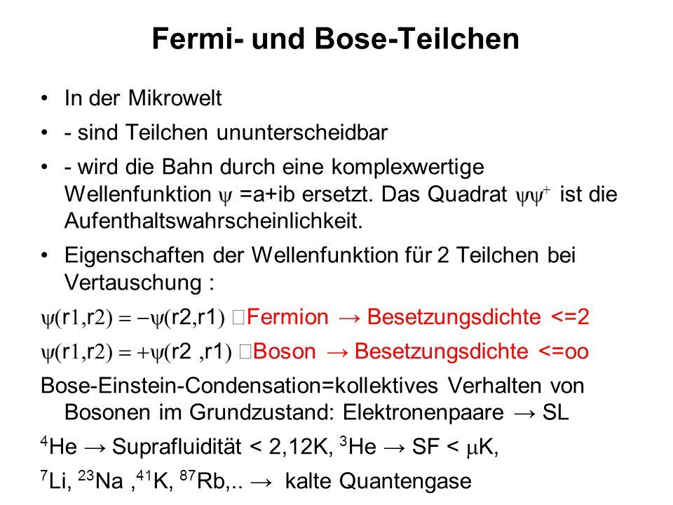 Fermi- und Bose-Teilchen