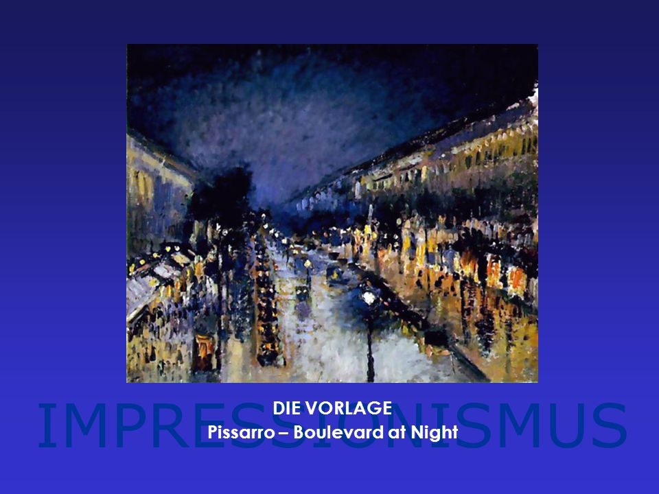 Pissarro – Boulevard at Night