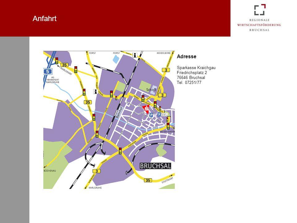 Anfahrt Adresse Sparkasse Kraichgau Friedrichsplatz 2 76646 Bruchsal