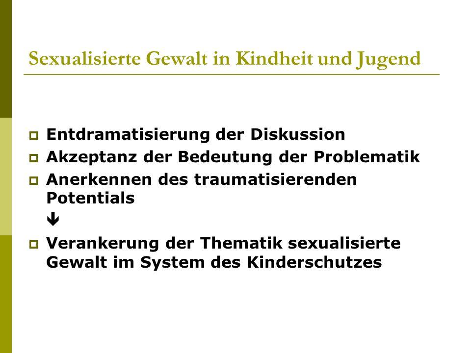 Sexualisierte Gewalt in Kindheit und Jugend