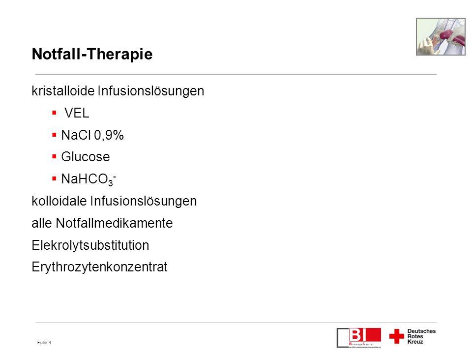 Notfall-Therapie kristalloide Infusionslösungen VEL NaCl 0,9% Glucose