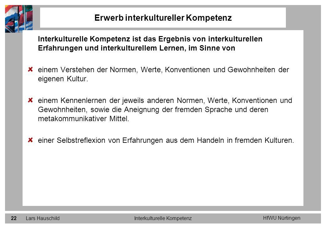 Erwerb interkultureller Kompetenz