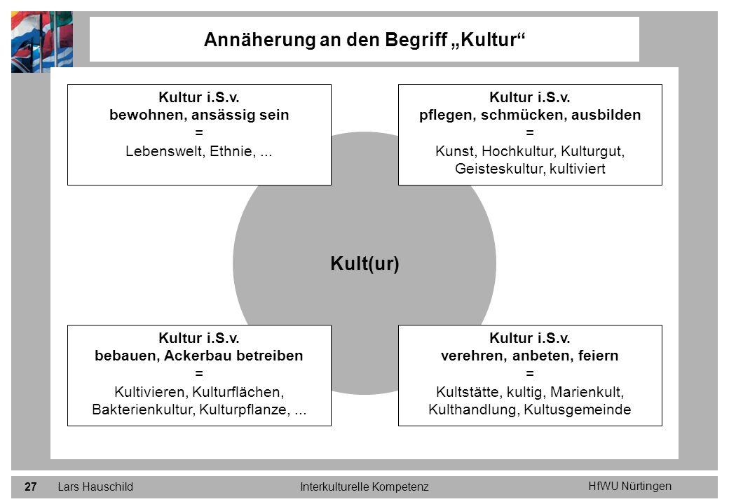 """Annäherung an den Begriff """"Kultur"""
