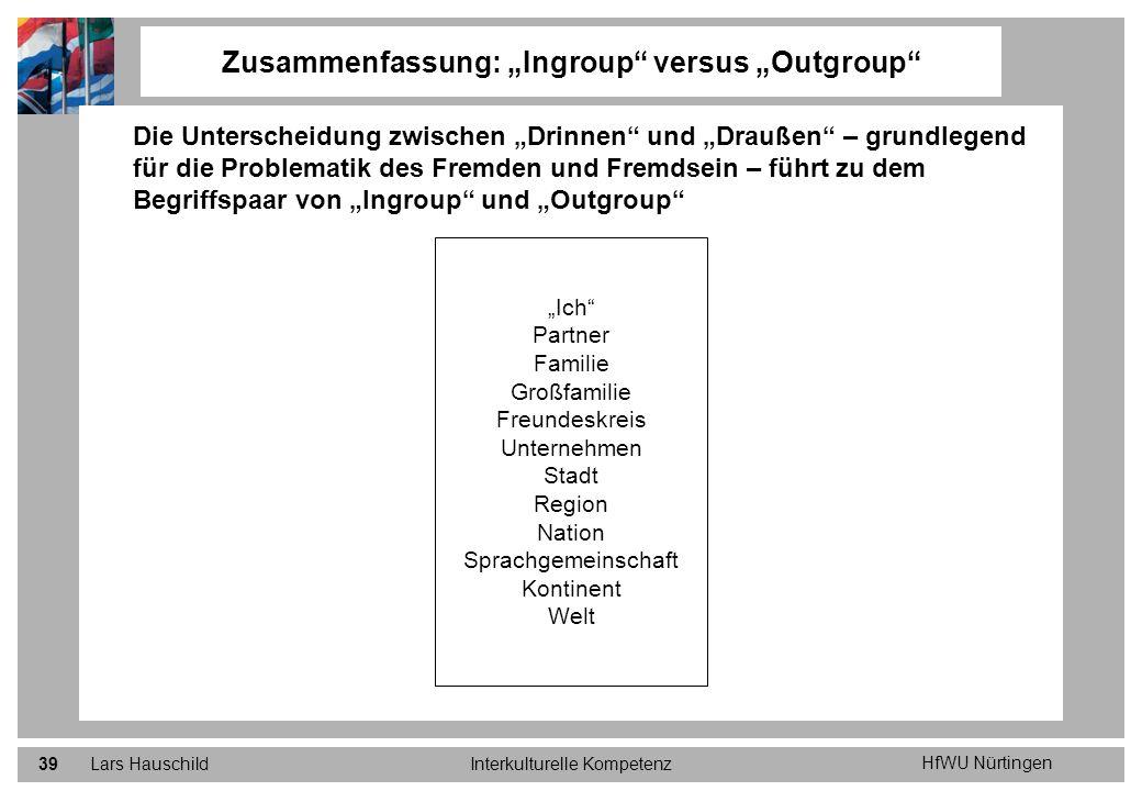 """Zusammenfassung: """"Ingroup versus """"Outgroup"""