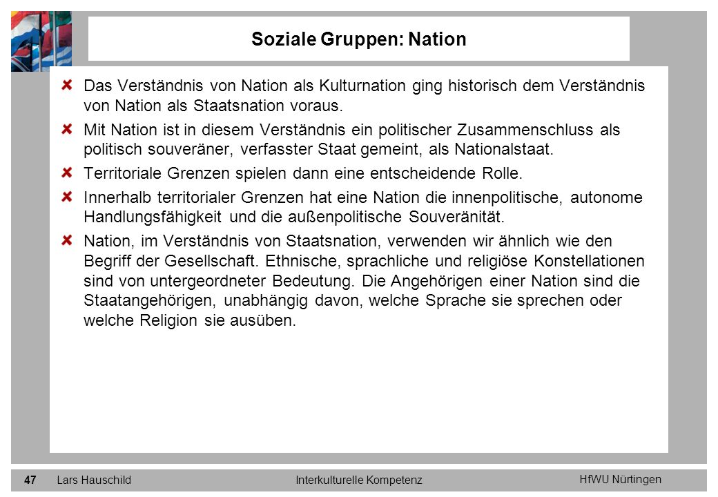 Soziale Gruppen: Nation