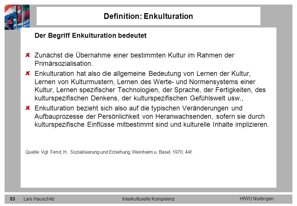 Definition: Enkulturation