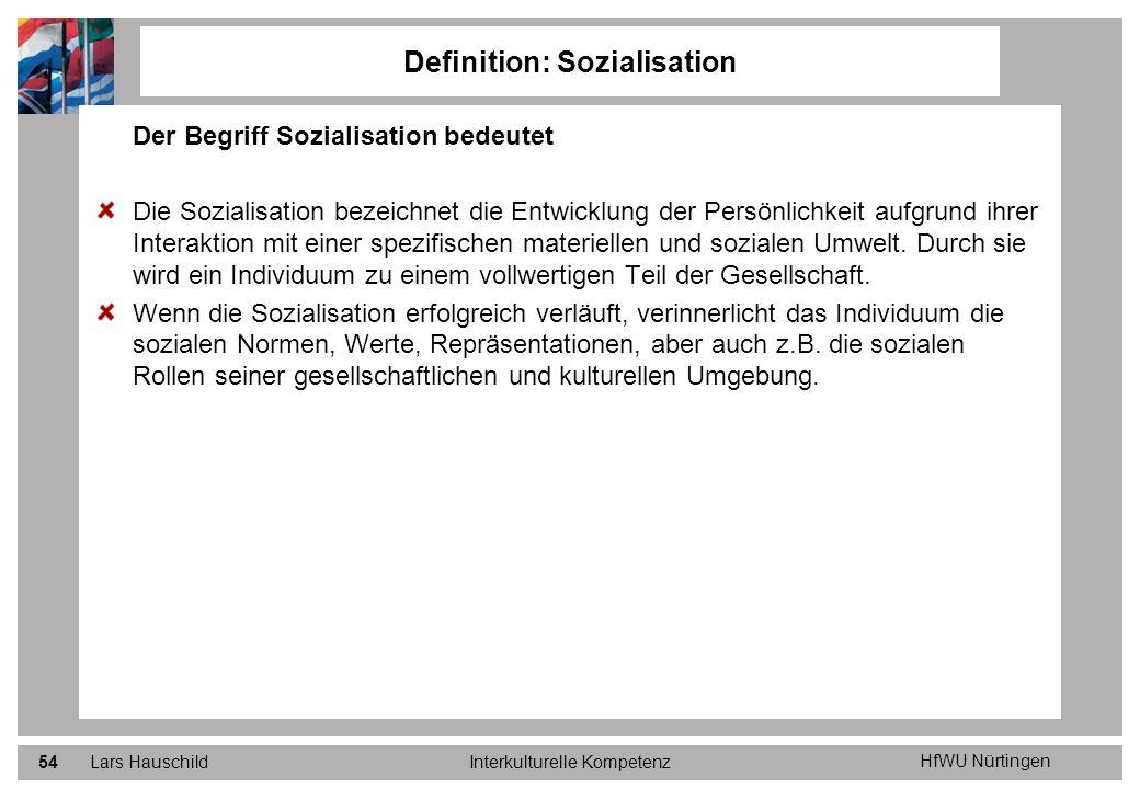 Definition: Sozialisation