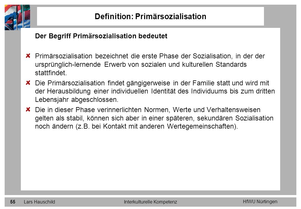 Definition: Primärsozialisation