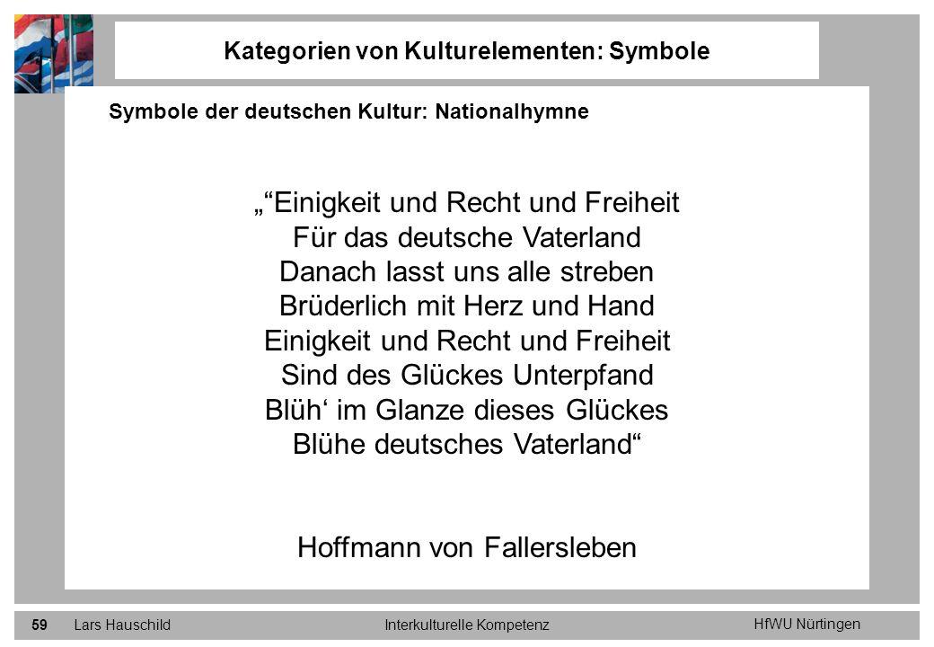 Kategorien von Kulturelementen: Symbole