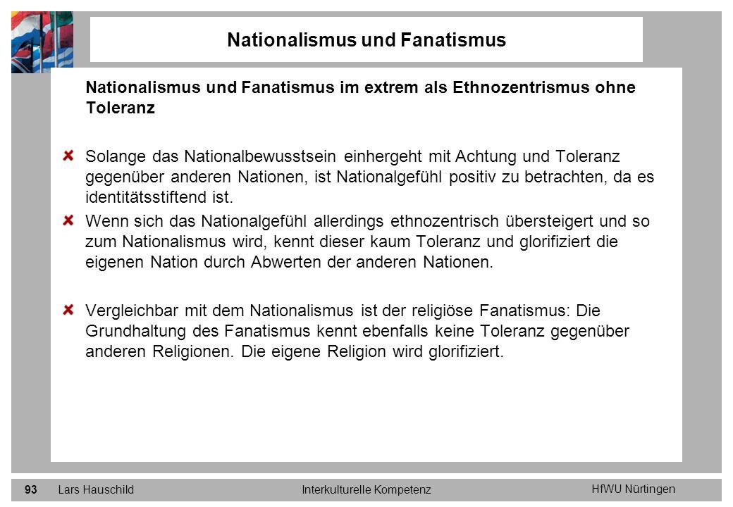 Nationalismus und Fanatismus