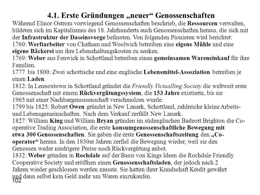 "4.1. Erste Gründungen ""neuer Genossenschaften"