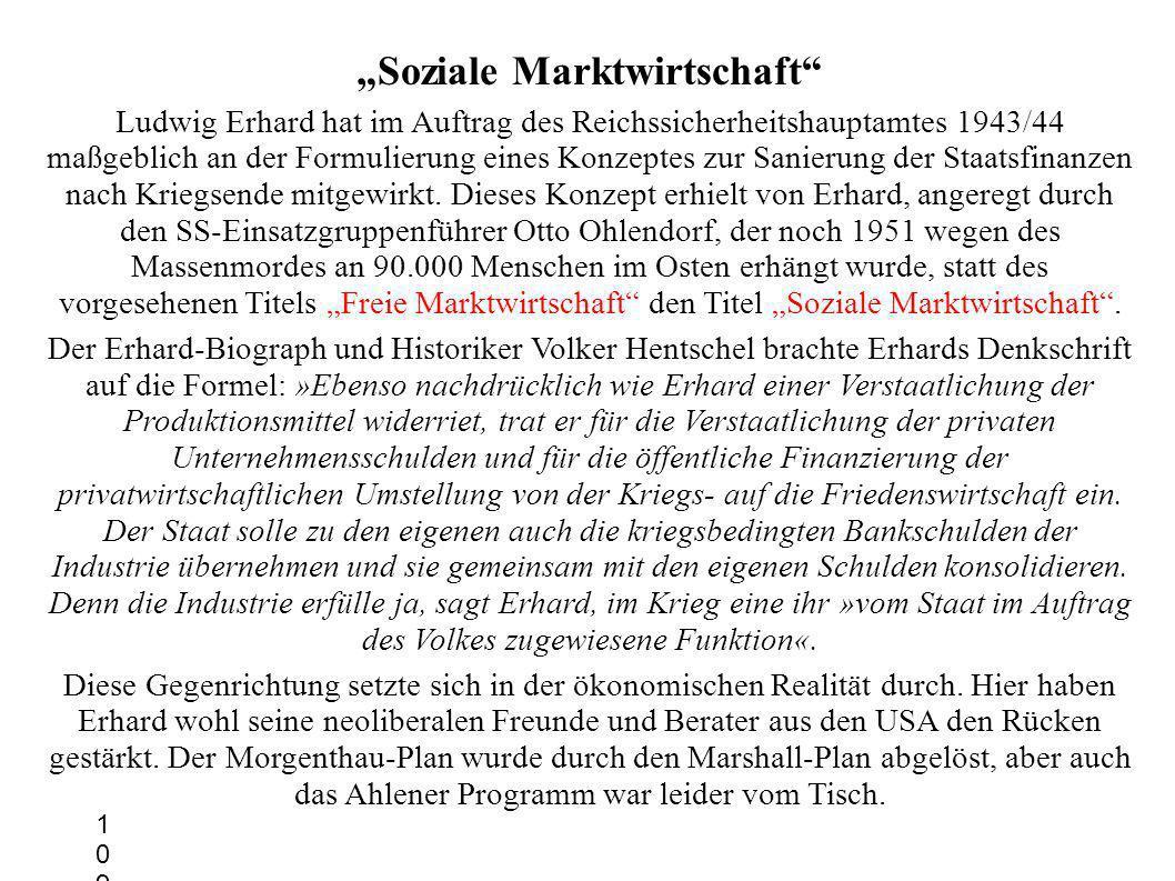 """""""Soziale Marktwirtschaft"""