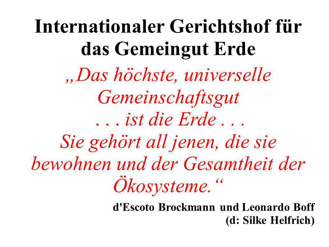 Internationaler Gerichtshof für das Gemeingut Erde